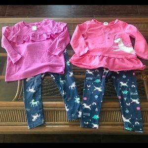 Bundle of 2 Unicorn 🦄 Outfits Size 18 months
